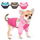 Waterproof Dog Winter Clothes for Small Medium Dogs Pet Jacket Hoodie Coat Pink