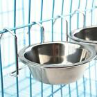 Stainless Steel Hang-on Bowl Metal For Pet Dog Crate Cage Food Water Bowl FER