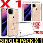 1 X For iPhone XI,R,Pro,MAX 2019-20 NEW 9H-HARDNESS CLEAR SILICON GEL Case Cover