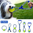 Aggressive Dog Chew Toys Chewers Rope Durable Dog Bite Training Cotton Ball Tug