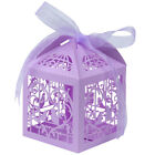 25/50/100 Hollow Favor Ribbon Gift Box Laser Cut Candy Boxes Wedding Party Decor