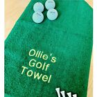 Personalised Printed / Embroidered Golf Towel - Choose Your Own Wording