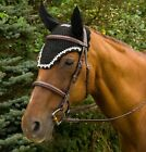 Equine Couture Fly Bonnet with Pearls and Crystals                           ...