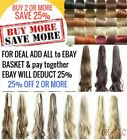 Long Claw Clip Ponytail Hair Extension Piece Curly Wavy Blonde Brown Pillar Red