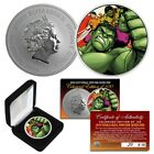 2019 UK 1oz Pure Silver BU Marvel Comics HULK TRANSFORMATION Coin S N LTD 100