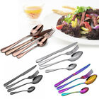 Cutlery Sets Stainless Steel 4/8/16/24 Piece Dining Party Colorful Flatware Set