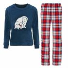 Ladies Womens Long Sleeve Winter Warm Fleece Comfy PJ Pyjama Set Size 6 8 10 12