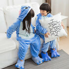 Kids Boy Girl Pajamas Kigurumi Unisex Cosplay Animal Costume Sleepwear Halloween