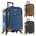 Carry on Luggage 22x14x9 Travel Lightweight Rolling Spinner Expandable Black