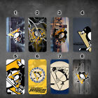 Pittsburgh Penguins iphone 11 11 pro max galaxy note 10 10 plus wallet case $17.99 USD on eBay