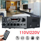 110V-220V 2CH HiFi bluetooth Home Stereo Amplifier Audio Receiver MP3 Player