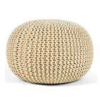 Knit Pouf Floor Ottoman Cotton...