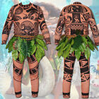 Moana Maui Tattoo T Shirt / Pants Halloween Adult Mens Kids Cosplay Costume