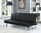 3 Seater Sofa Bed Faux Leather Fabric Various Colours Available Modern Stylish