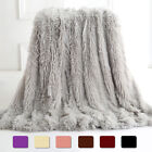 Faux Fur Throw Blanket Reversible Soft Fluffy Fleece Shaggy Sofa Bed Couch Decor image