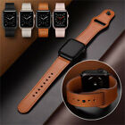 Luxury Genuine Leather Strap for Apple Watch Band Series 5 4 3 2 38/42mm 40/44mm image