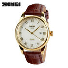 SKMEI Men Watches Top Brand Luxury Leather Strap Watch for Business Wristwatches image