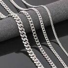 "Men's Boy Stainless Steel Silver  Curb Chain Necklace Jewelry 3.5/5/7mm 18/30"" image"