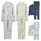 Ladies Womens Boyfriend Button Up Front Long Sleeve Pyjamas Set Plus Size 4-20