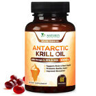 Antarctic Krill Oil 1000mg with Omega-3s EPA, DHA & Astaxanthin Softgel Capsules