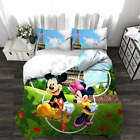 Cute Mickey Mouse 3D Quilt Duvet Doona Cover Set Single Double Queen King Print image