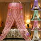 Princess LED Dome Lace Mosquito Net Bed Canopy Netting Fly Insect Protection  image