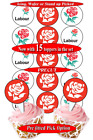 15 Labour Party edible cupcake toppers PRECUT 2 sizes, 8 choices