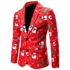 Men Luxury Casual Suit Coat Slim Formal Wedding One Button Blazer Jacket Tops US