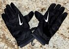 NIKE Coaches Sideline TXT-On Thermal Black Leather Palm Winter Gloves Mens M L