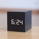 New Qualified Digital Wooden LED Alarm Clock Wood Retro Glow Clock Desktop Table
