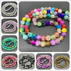 6mm 8mm 10mm Crackle Glass Beads Round Loose Spaced Beads For Jewelry Making