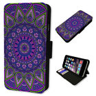 Spirograph Pattern - Flip Phone Case Wallet Cover Fits Iphone 5 6 7 8 X 11