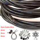 Gym Wire Cable Black Nylon Coated 4mm 5mm 6mm Gym Training Parts Per Mtr image