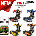 Robot Car Transformers Kids Toys Toddler Truck Cars Cool Toy For Boys Xmas Gift