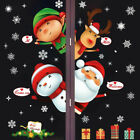 New Christmas Removable Glass Window Stickers Clings Santa Claus Xmas Home Decor