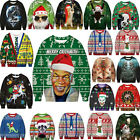 Unisex Ugly Christmas Sweater Funny Ugly Women Men Xmas Pullover Sweatshirt Tops