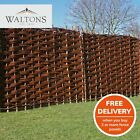 Wooden Garden Fence Panel Bunched Willow Hurdle Woven Fencing 6ft 5ft 4ft 3ft