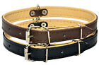 DOG PUPPY COLLAR REAL LEATHER TOP & NATURAL LEATHER BOTTOM PADDED Handmade
