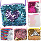 Girls Kids Sequins Coin Purse Messenger Crossbody Shoulder Bag Wallet Handbag