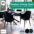 2pc Luxo Upholstered Velvet Fabric Dining Chair Tub Armchair Seat Modern Kitchen