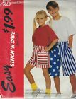Stitch 'n Save 5926 Tween Unisex T-Shirts and Shorts Sewing Pattern