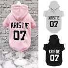 Personalized Dog Clothes Custom Name Number Hoodie Warm Boy/Girl Sweater XS-5XL