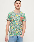 Superdry Mens All Over Print Ticket Type Pocket Lite T-Shirt