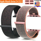 For Apple Watch Woven Nylon Sport Loop Band Strap Series 5 4 3 2 1 38/42/40/44mm image