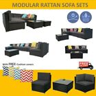 Premium Outdoor Furniture Rattan Sofa Set Wicker Lounge Garden Patio Couch Sets