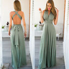 Women's Infinity Multiway Wrap Dress Long Maxi Bridesmaid Dresses Cocktail Party