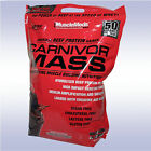 MUSCLEMEDS CARNIVOR MASS (10 LB) beef protein isolate gainer amino bcaa $66.95 USD on eBay