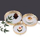 3PCS Classical Silver Cake Stand Wedding Dessert Cupcake Holder Set Metal Plate