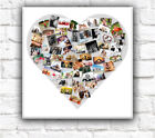 Heart Collage Canvas Personalised Angled Pictures Box Canvas Wall Art 4cm frame