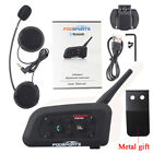 6 Riders 1200m Intercom Motorcycle V6 Bluetooth Headset Moto Helmet Interphone